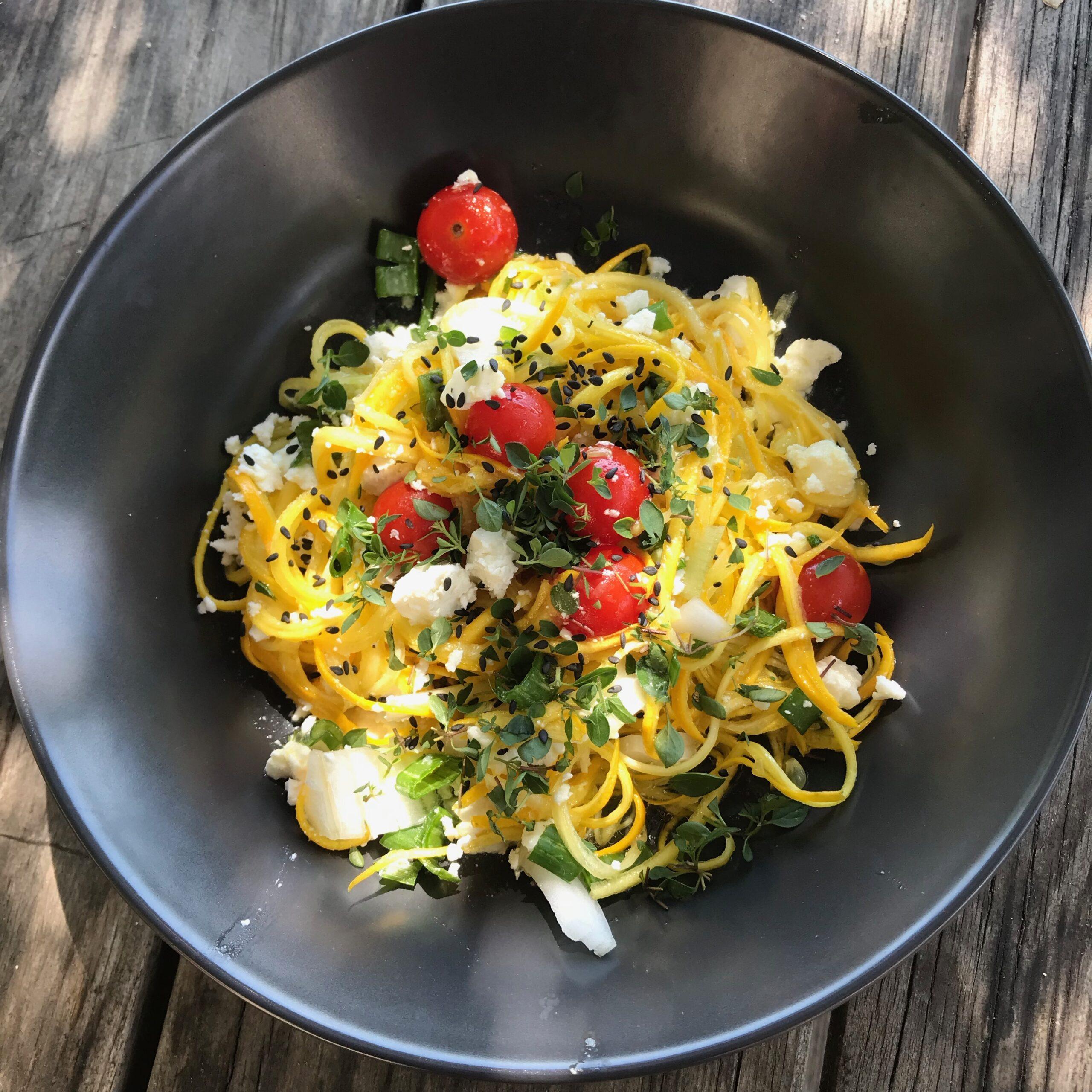 Salade de courgettes en spaghettis