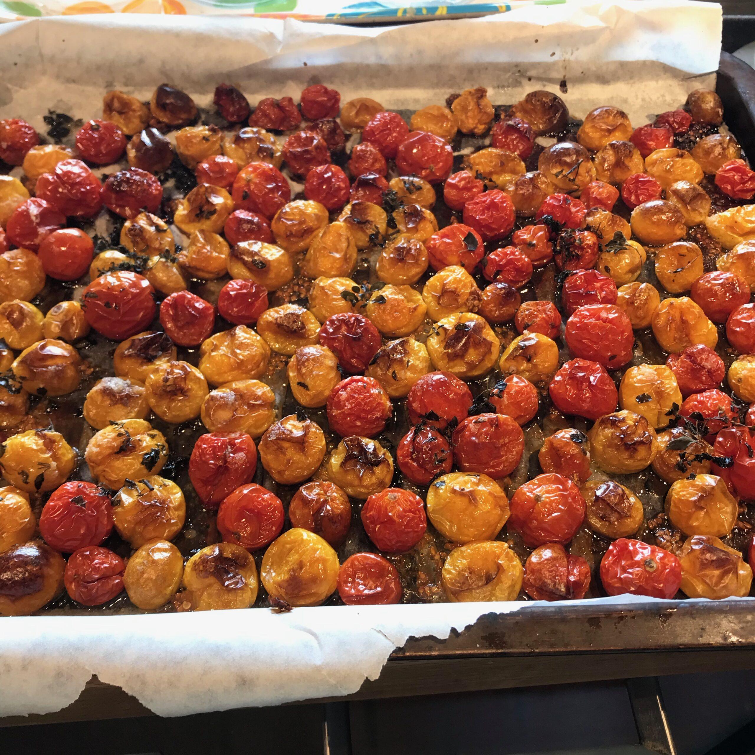 Tomates cerise confites pour l'apéro